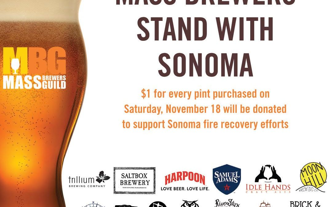 Mass. Brewers Stands with Sonoma Raising Pints and Funds for Sonoma Wildfire Relief