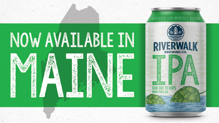 RiverWalk Brewing Expands Distribution to Maine