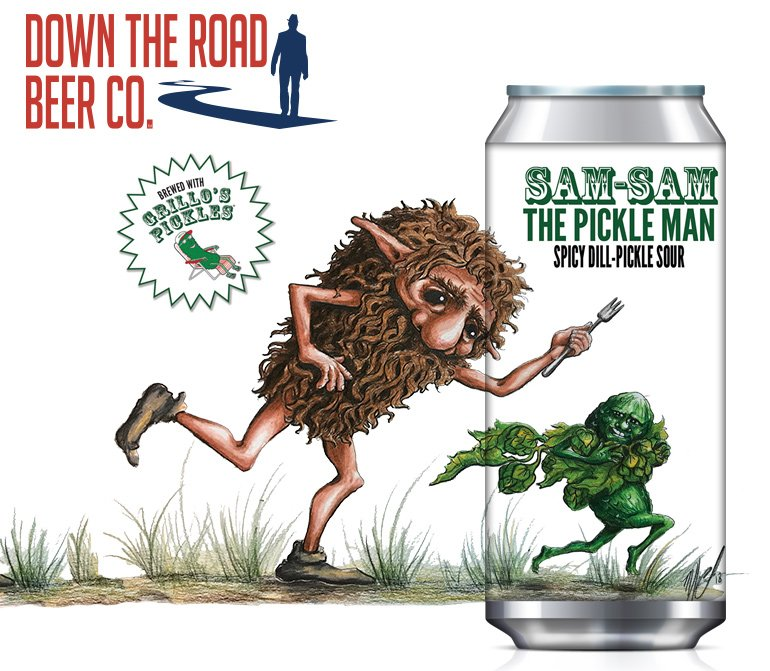 Down The Road Beer & Grillo's Pickles Release Spicy Dill-Pickle Sour