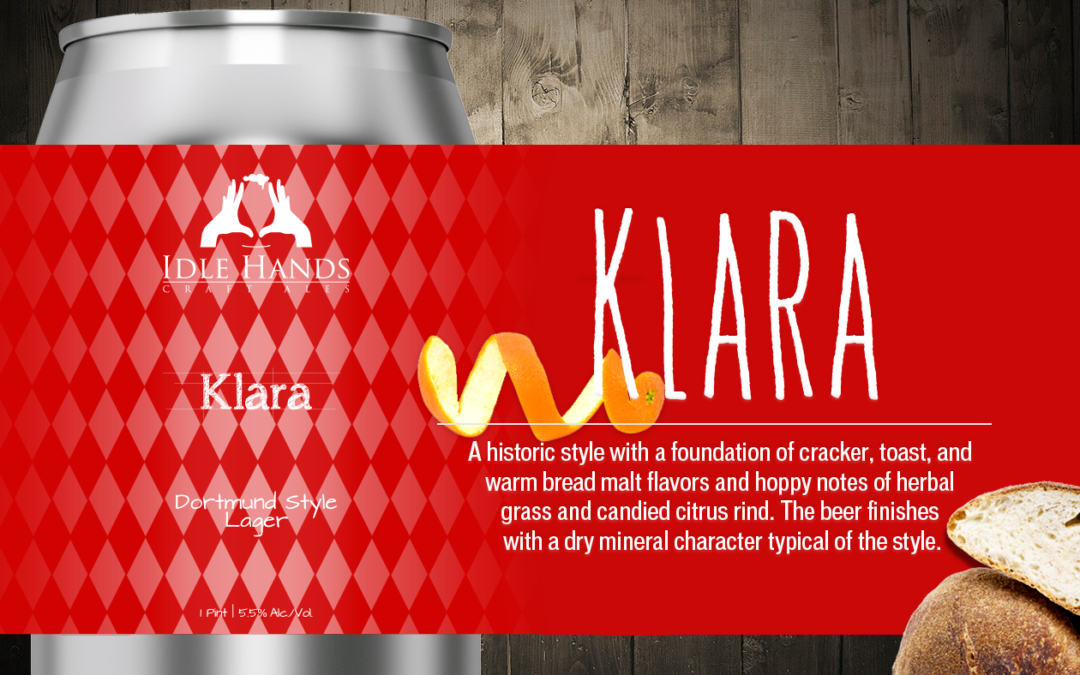 Idle Hands Craft Ales Releases Klara Dortmund-Style Lager in 16 oz. Cans