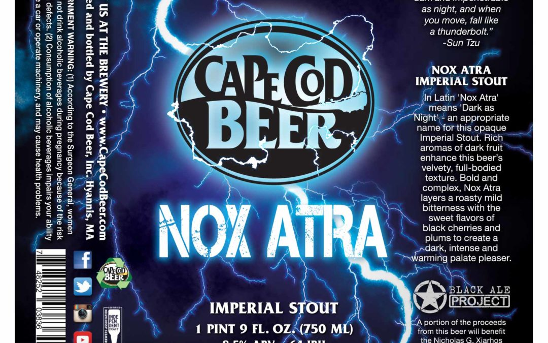 Cape Cod Beer Releasing Nox Atra Imperial Stout for the Black Ale Project