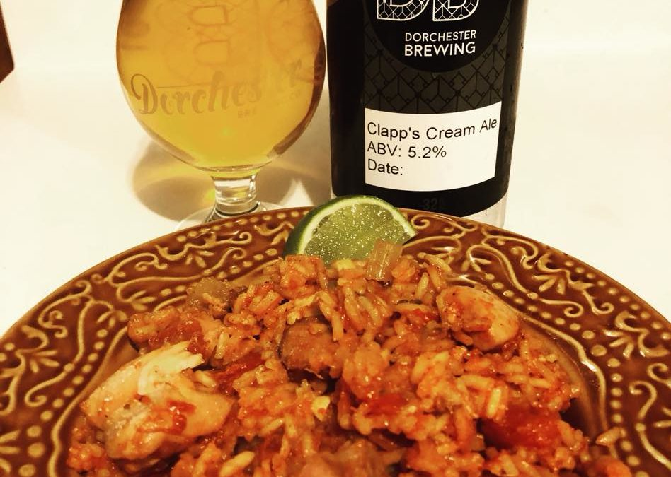 Beer-Infused Jambalaya Made With Dorchester Brewing Co. Beer