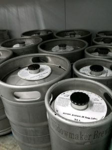 Widowmaker Brewing kegs