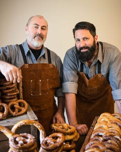 Wicked Twisted Pretzels co-founders Shawn and Josh Briggs