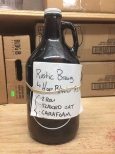 Rustic Brewing Hop Blind, winner of the 2018 Mass. Brew Bros. March Madness NE IPA blind tasting