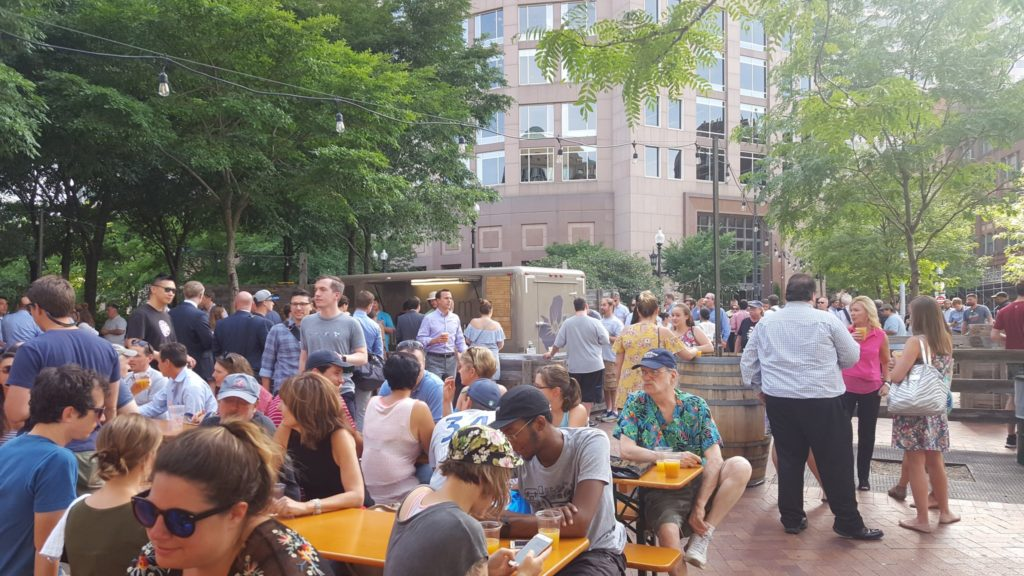 Trillium Brewing Garden on the Greenway in Boston, Massachusetts
