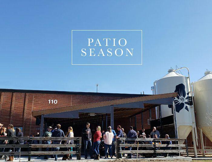 Trillium Brewing patio in Canton, Massachusetts