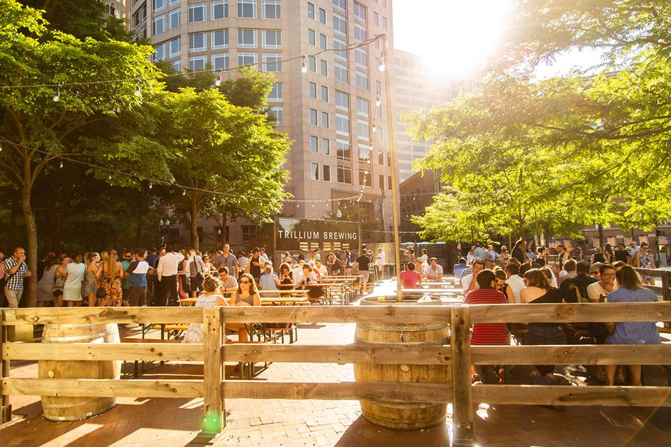 Trillium beer garden on the Greenway in Boston