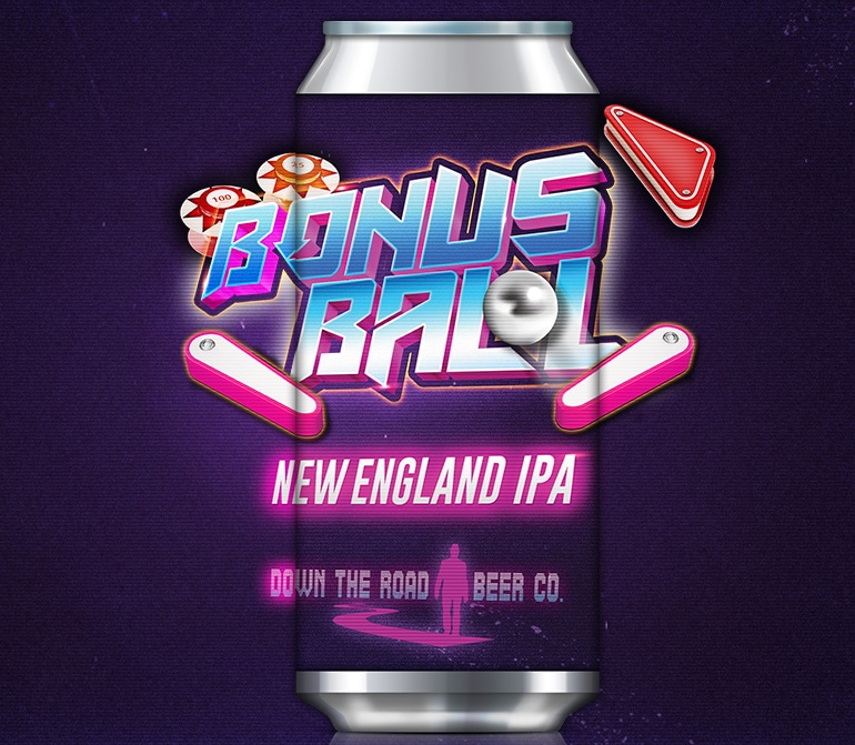 Down The Road Releasing Bonus Ball NE IPA, the first in a rotating, arcade-inspired hoppy beer series