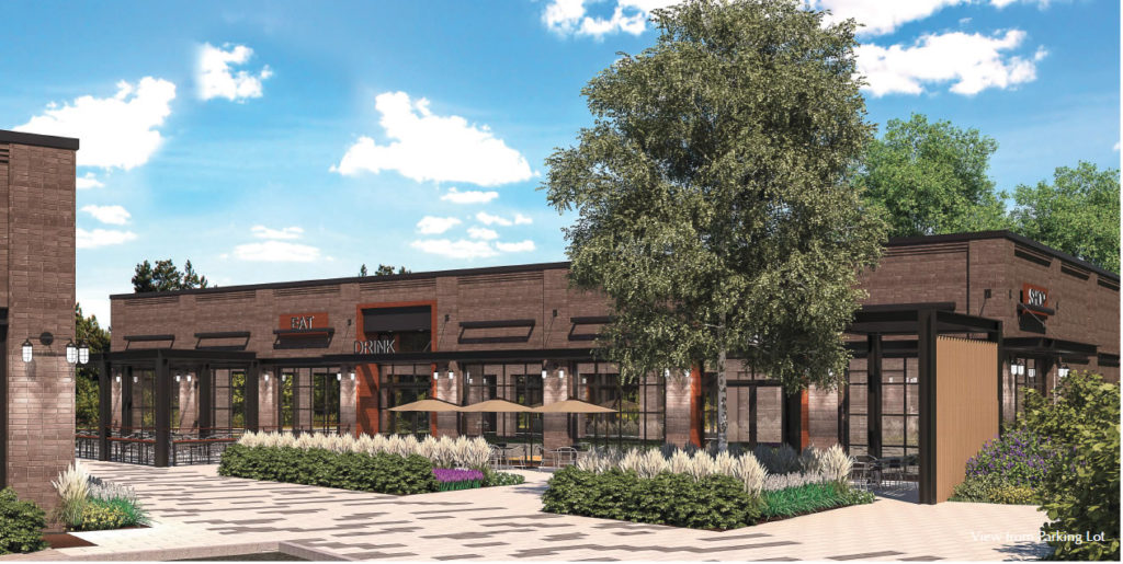 Rendering of CrossRoads at Route 129 pub brewery project