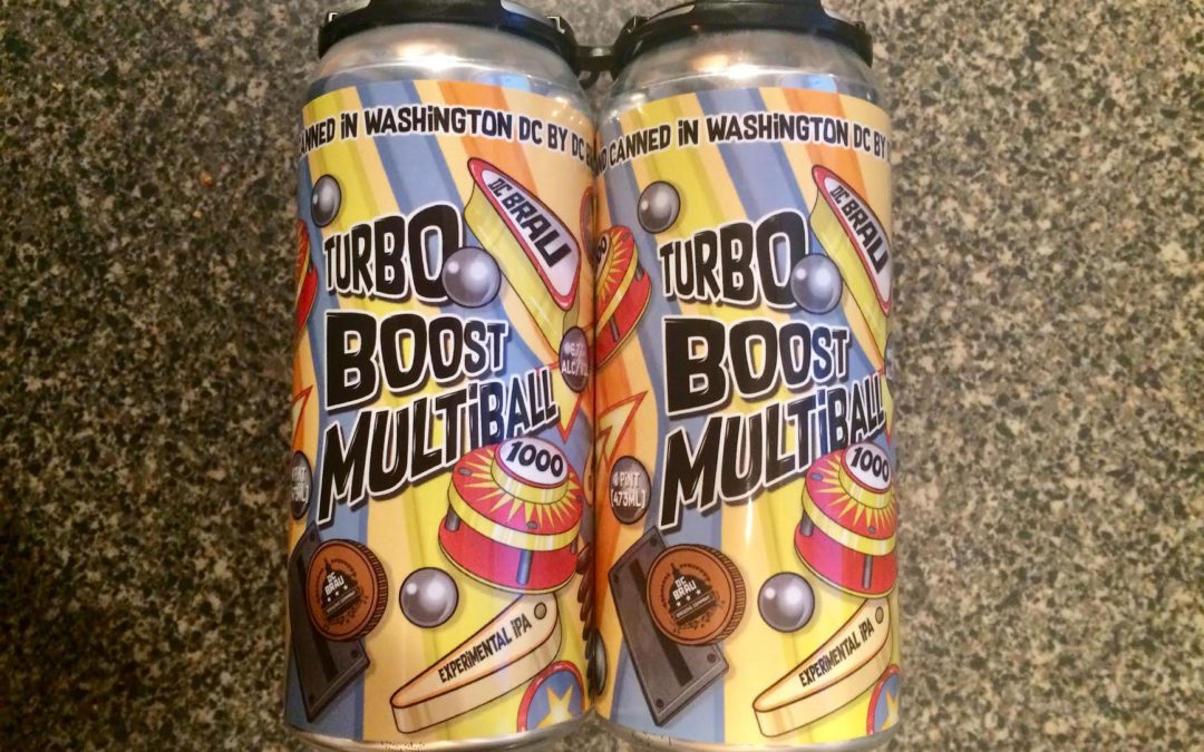 DC Brau Turbo Boost Multiball Experimental IPA is Returning to the Market