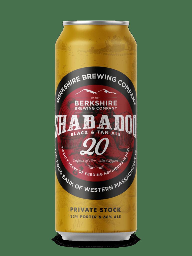 Berkshire Brewing Company Shabadoo Black & Tan Ale can release