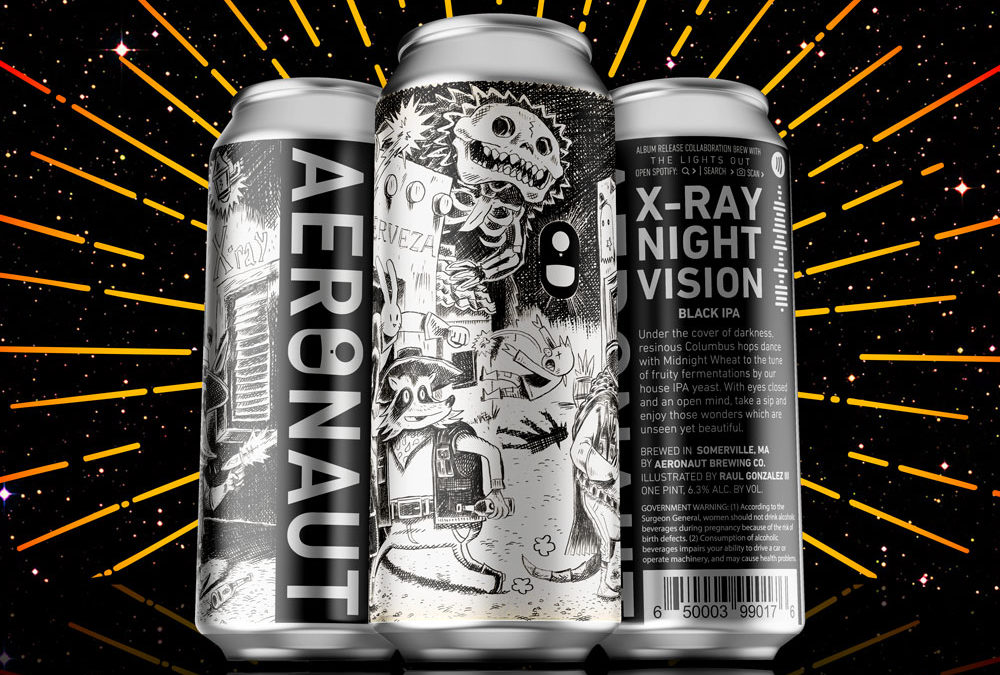 Band and Brewery (Aeronaut Brewing) Release Album on Spotify-Coded Beer Cans