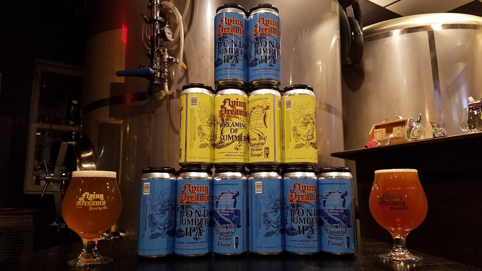 Flying Dreams Brewing cans