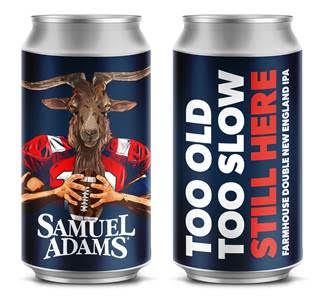 Sam Adams Releasing Patriots Promotional Brew Too Old, Too Slow, Still Here – a farmhouse double New England IPA