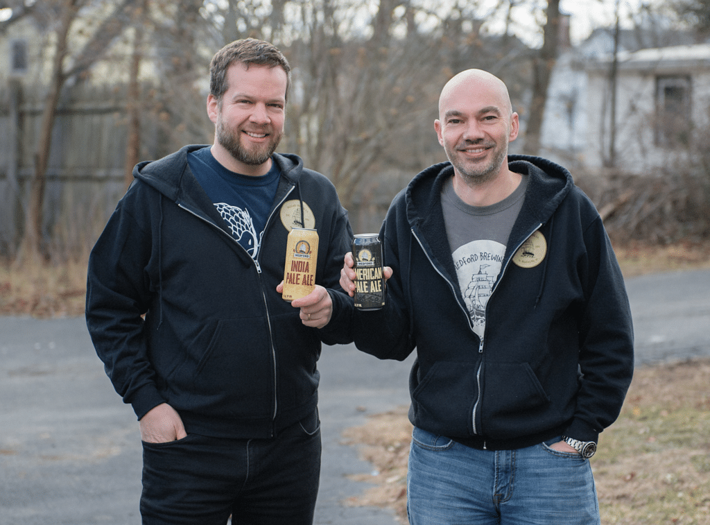 Medford Brewing Company co-founders Max Heinegg (left) and Nick Bolitho