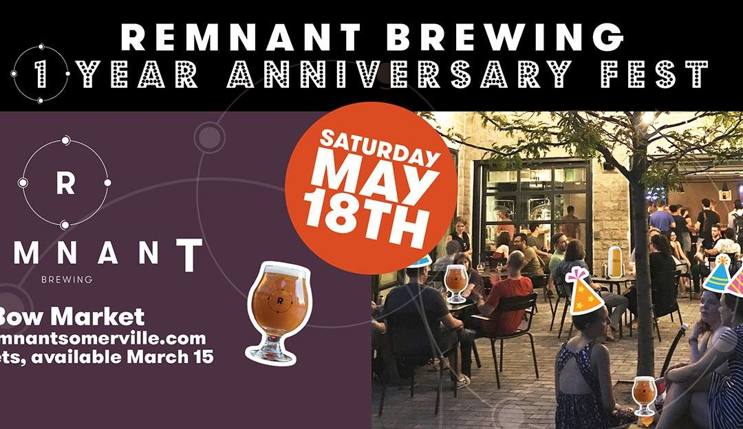 Remnant Brewing To Celebrate 1-Year With Anniversary Beer Fest!