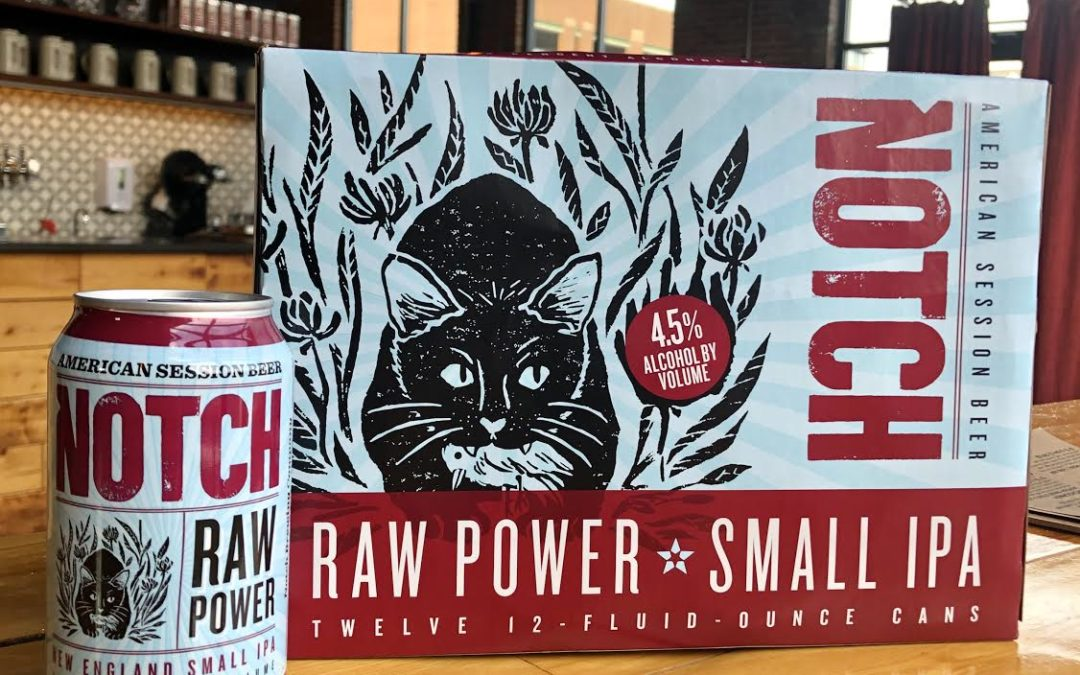 Notch Brewing continues news announcements with the release of year-round Raw Power SMALL IPA