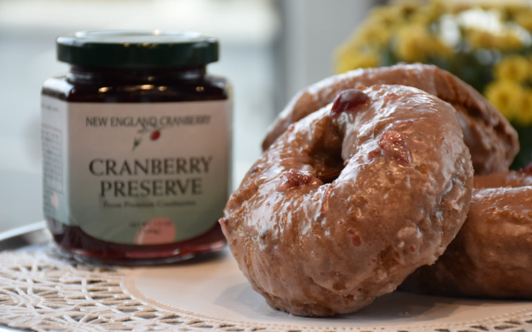 Kane's Donuts Releases Limited-Edition Seasonal Apple Cider Donut with a Cran-Apple Glaze Using New England Cranberry's Cranberry Preserve