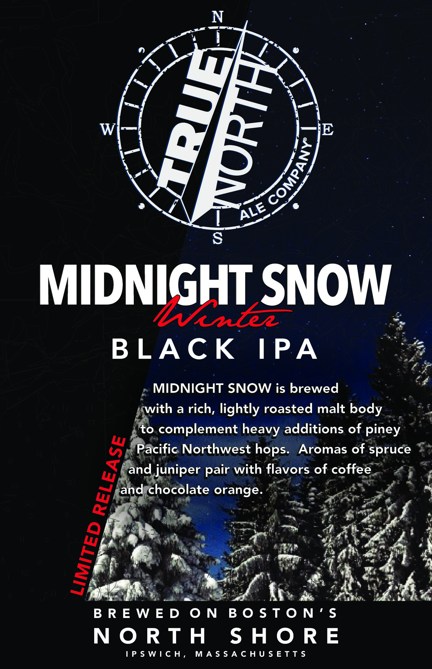 True North Ales Releases Midnight Snow Winter Black IPA