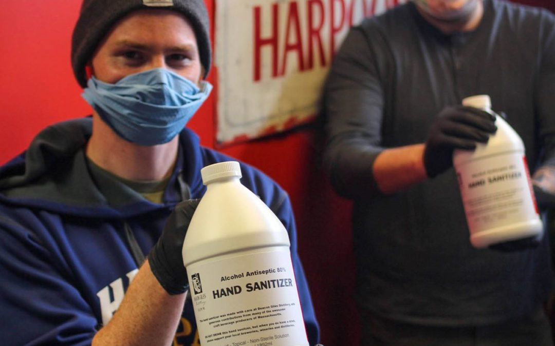 Harpoon Brewery Partners with Local Distillery to Produce Hand Sanitizer for Emergency Childcare Workers and First Responders