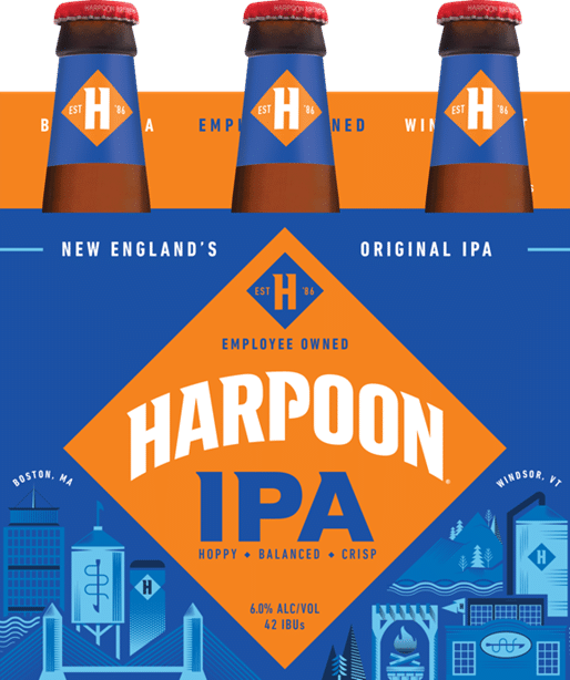 Harpoon Brewery Unveils a Fresh New Look for its Iconic IPA