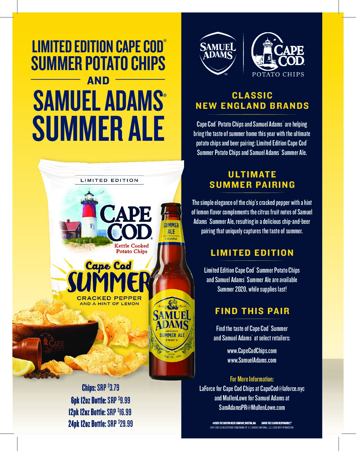 Samuel Adams and Cape Cod Potato Chips – Perfect Pairing