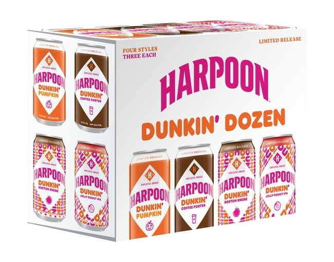 Bottling Joe and Joy: Harpoon Brewery and Dunkin' Launch New Coffee and Donut-Infused Beers for Fall