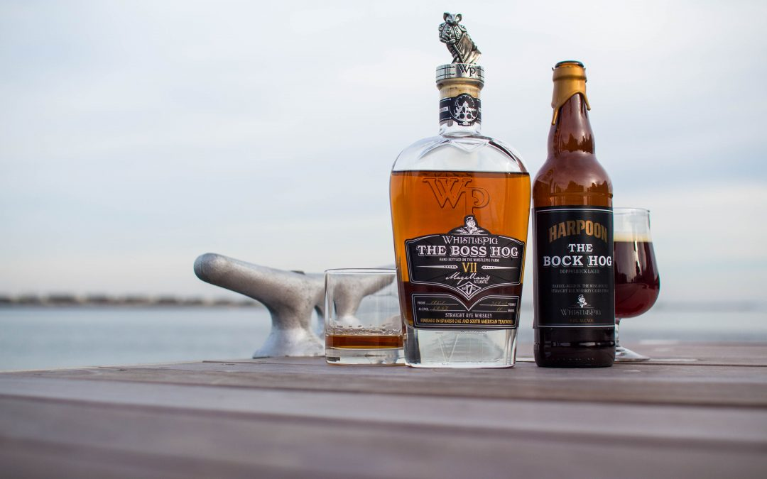 Harpoon Brewery and WhistlePig Rye Whiskey Collaborate For a Second Time to Brew The Bock Hog: A German-Style Doppelbock Finished in One-of-a-Kind Rye Whiskey Barrels