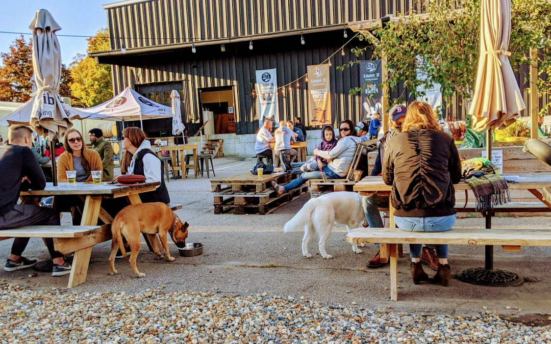 Exhibit 'A' Brewing Company's Beer Garden Re-Opening on April 16
