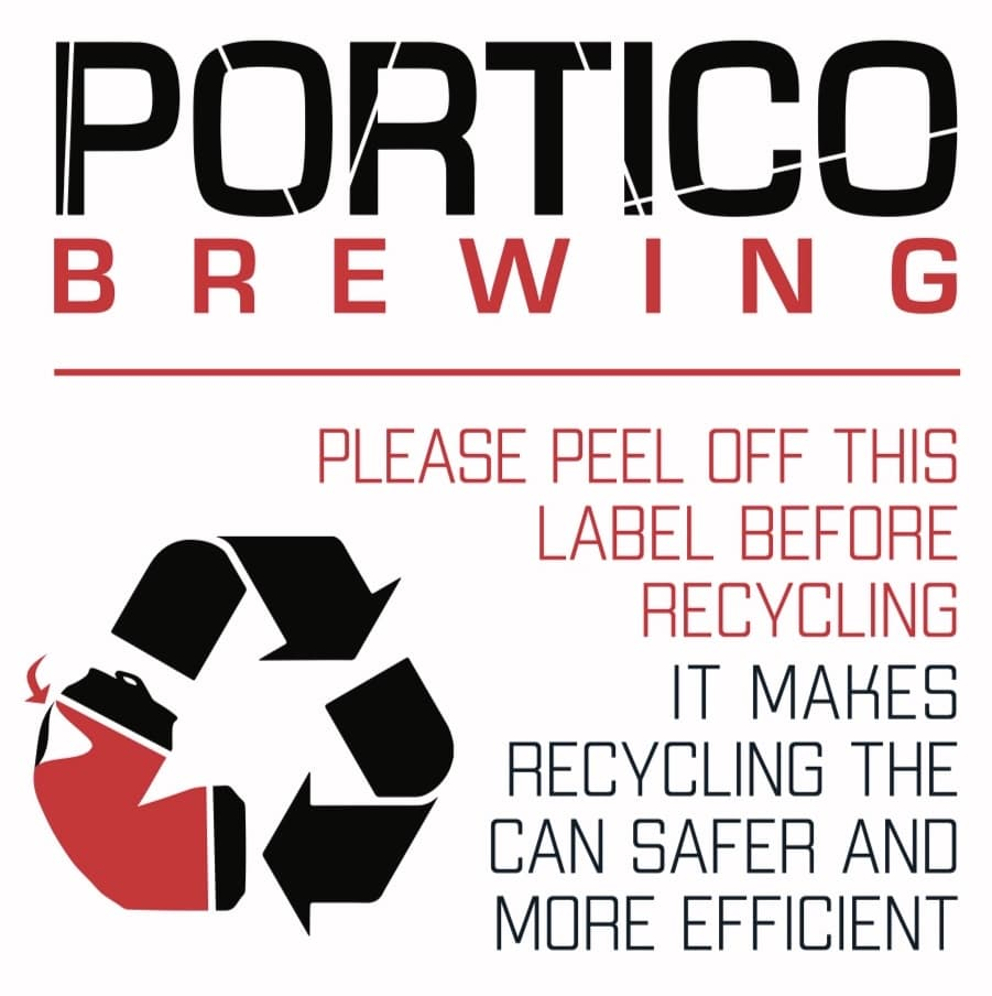 Portico Brewing recycling message
